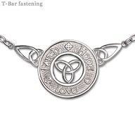 Sterling Silver Faith Hope Love Celtic Necklet