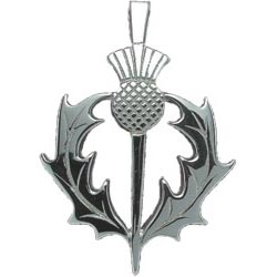 Scottish thistle pendants from baxters jewellers thistle and circular six thistles pendant p125 aloadofball Images